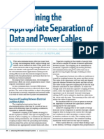 Determining the separation of Data and Power Cables