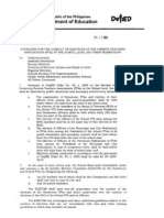 Do No. 77, s. 2009 Pta Guidelines