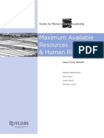 Maximum Available Resources & Human Rights