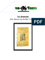 Ercilla Y Zuñiga, Alonso De - La Araucana