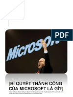Bí quyết thành công của Microsoft là gì