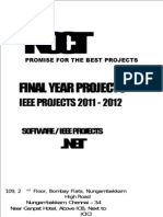2010 .NET Software Final Year IEEE Project Titles - 2011-2012