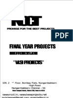 2011 - 2012 IEEE Projects List - VLSI Projects