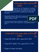 Declaración Anual IETU e ISR  2009(04marzo2010)