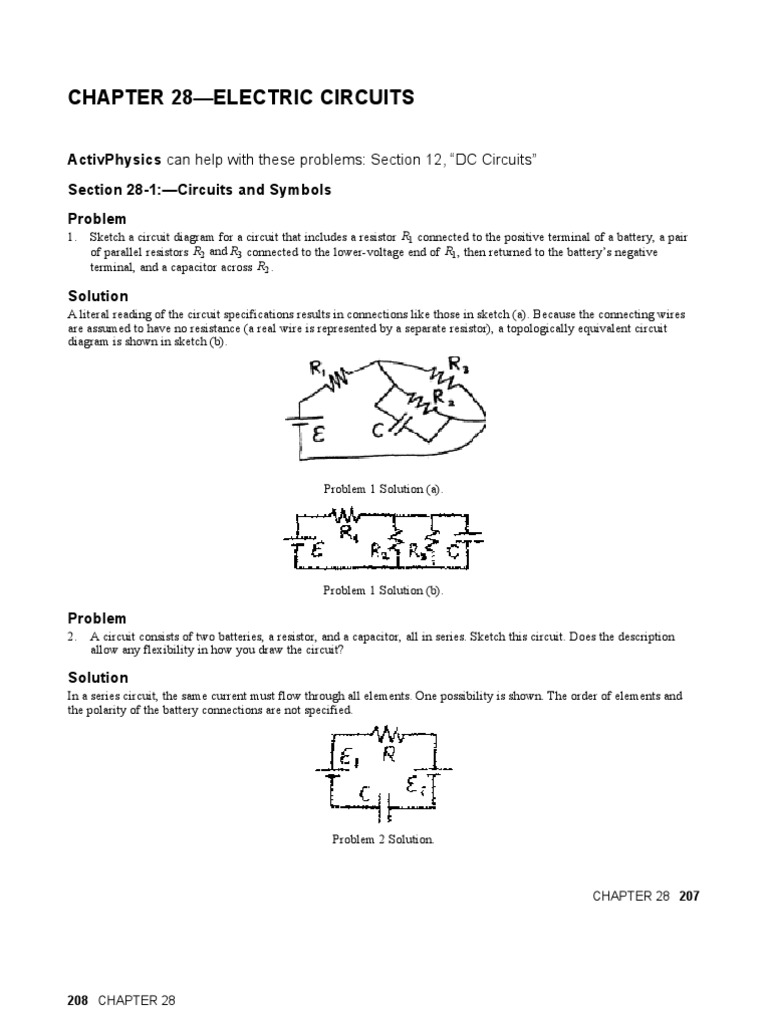 CH28 | Series And Parallel Circuits | Capacitor