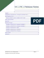 ASP.net Mvc 2 Rc2 Release Notes