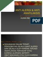 Obat Anti Alergi Anti Anafilaksis