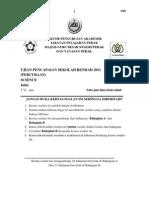 Percubaan Sains UPSR 2011 Perak (Bhg A)
