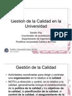 Direccion II - Gestion de La Calidad en La Catolica