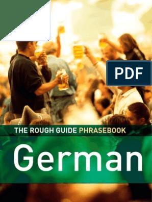 German Dictionary Phrase Book 3 Rough Guide Phrase Books Adjective Linguistics