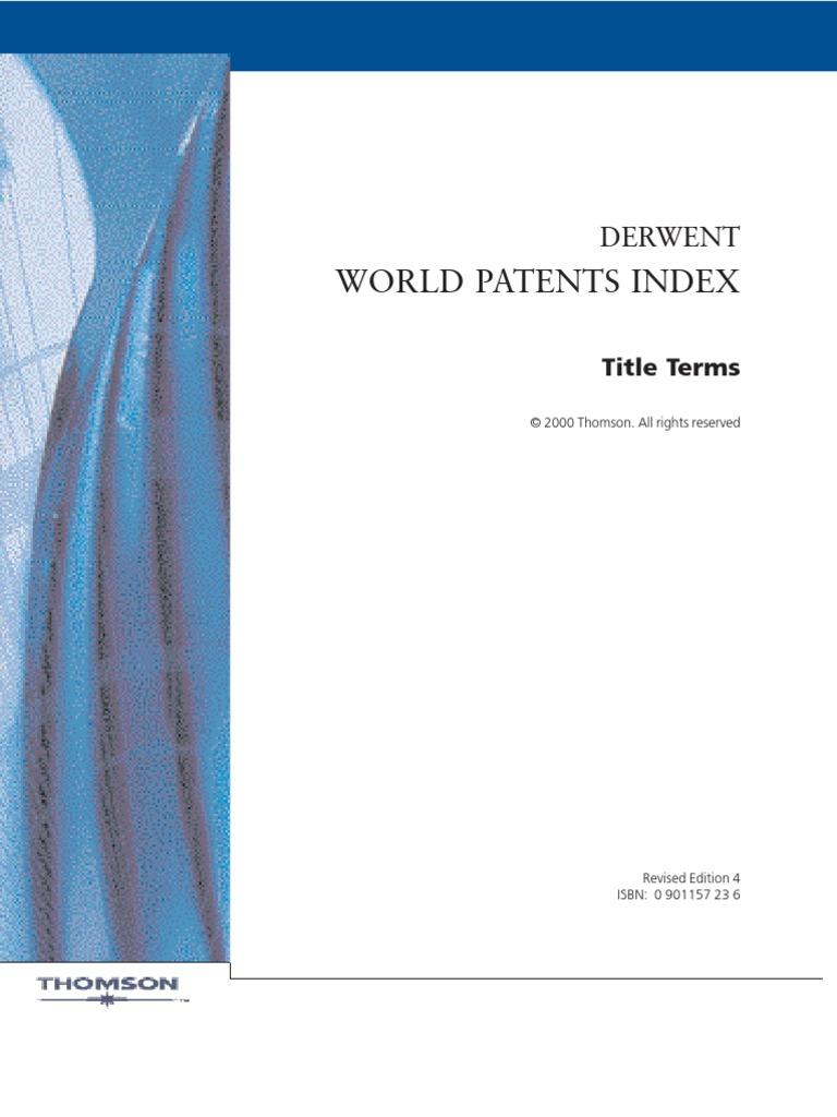 World Patent Index Electric Circuit Board Mri Baler