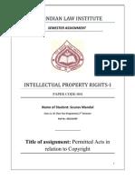 Assignment, Paper-i, Copyright