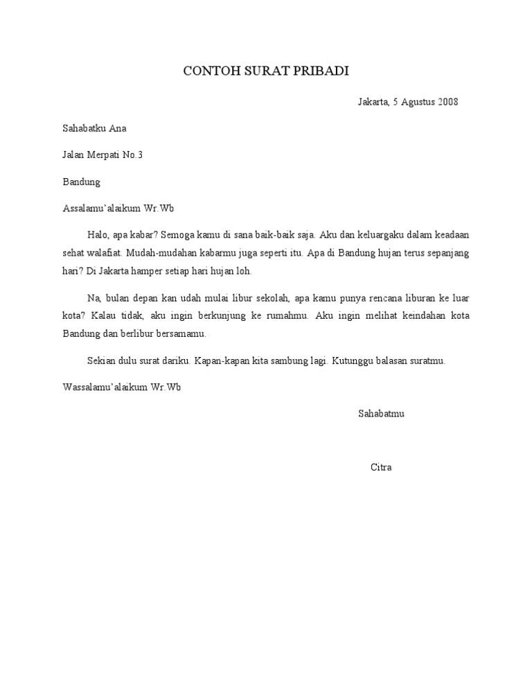 Surat Resmi Dan Surat Pribadi