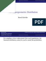 The Hyper Geometric Distribution