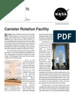 NASA Facts Canister Rotation Facility 2002