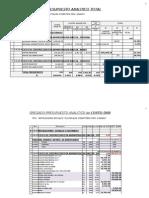 Presupuesto Analitico Ref 2011