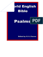 English Holy Bible Psalms R S Chaves