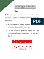 Dye Solubility Test