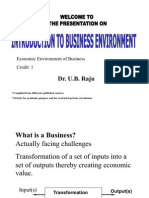 1-Introduction to Business Environment