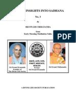 Special Insights Into Sadhana No. 3