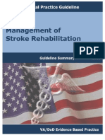 Management of Stroke Rehabilitation-guideline Summary-2010