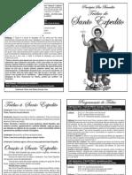 Folheto Do Triduo de Santo Expedito