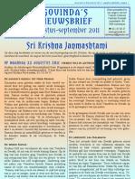 Govinda's_e-Nieuwsbrief_2011_0809