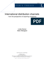 Internationational Distribution Channels - Thesis