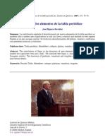 España y los elementos de la tabla periódica