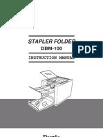 Duplo Dbm 100 Instruction Manual