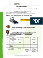 Calentador de Agua Solar Axol-240lts Zonas Frias