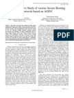 A Comparative Study of Various Secure Routing Protocols Based on AODV