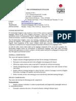 PROGRAM, English  Pre-Intermediate, 2nd, 2011
