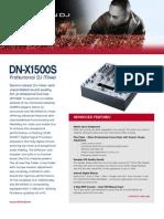 DN X1500s Final