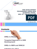 SME Development Programmes Under New Economic Model and 10MP