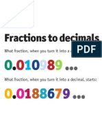 Fractions to Decimals Brainteaser