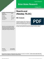 ReachLocal update 8.8.11