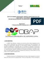regulamento OBAP