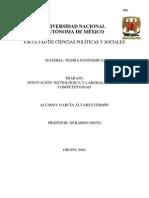 RESEÑA CRÍTICA DEL ENSAYO INNOVACIÓN TECNOLÓGICA Y LABORAL PARA LA COMPETITIVIDAD