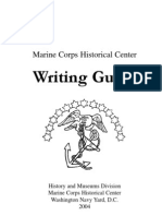 Marine Corps Historical Center Writing Guide