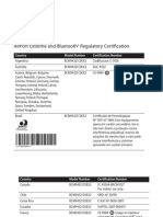 AirPort Extreme and Bluetooth Regulatory Certification