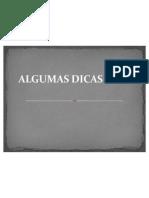 ALGUMAS DICAS PARA CONTAR HISTÓRIAS