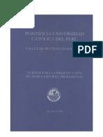 Normas Presentacion Tesis Informe Profesional