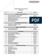 Hospital Furniture and Equipment - Product List