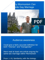 """Why Mormonism Can Abide Gay Marriage"" Brad Carmack Sunstone Presentation, 6 August 2011"