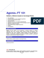 Agorex FT101 Sellante Sellador y Adhesivo