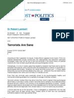 Dr Robert Lambert -Terrorists Are Sane