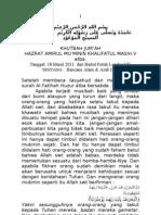 Khutbah Jum'at 2011-03-18 Bencana Alam & Azab Ilahi