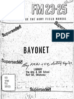 United States Army Fm 23-25 Bayonet 1953