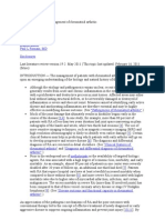 General Principles of Management of Rheumatoid Arthritis